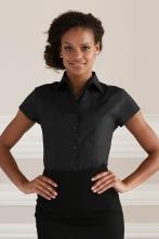 naisten lyhythihainen stretch paitapusero