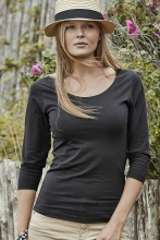 naisten 3/4 hihainen stretch t-paita