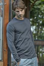 miesten pitkähihainen interlock t-paita