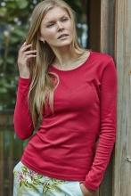 naisten pitkähihainen interlock t-paita